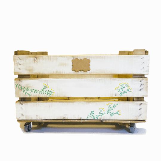 """Caja de madera natural """"Mimosa""""."""