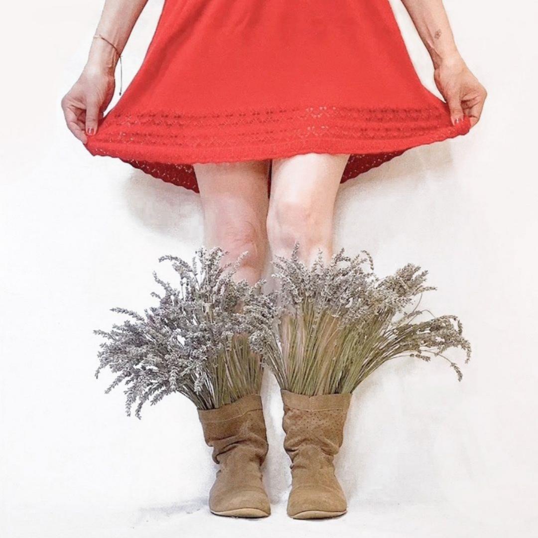 Reinventa12 botas con flores de lavanda